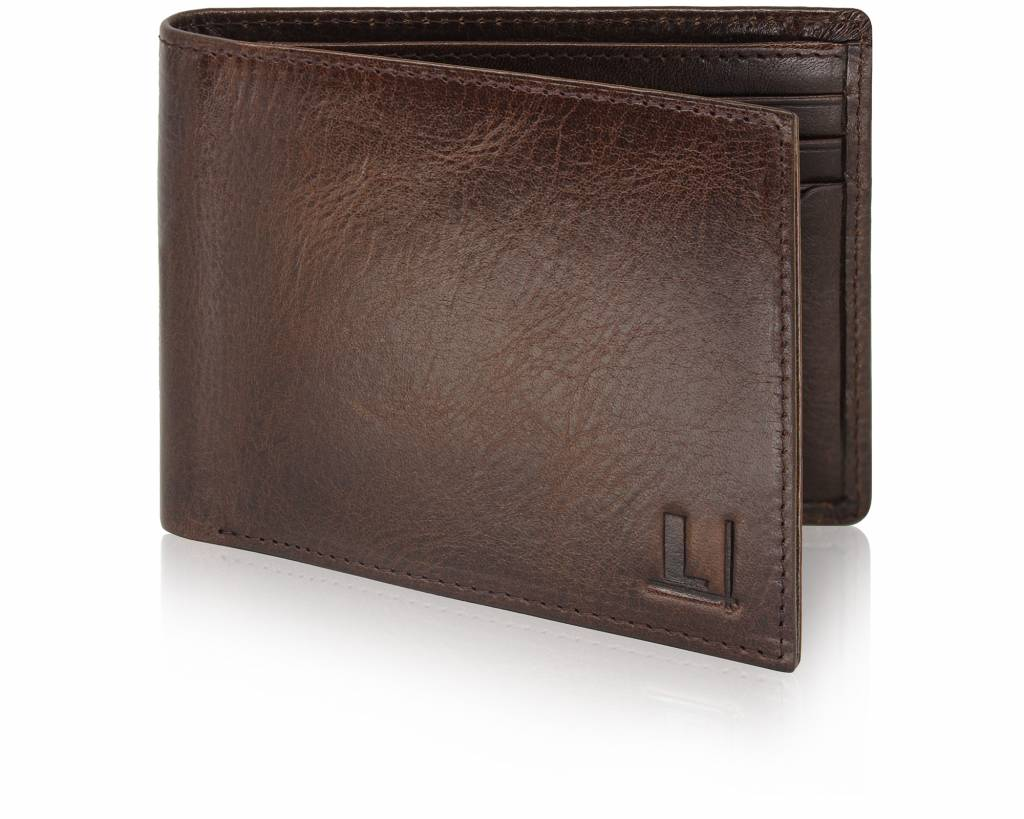 Bi-Fold Wallet LW-9 Dark Brown