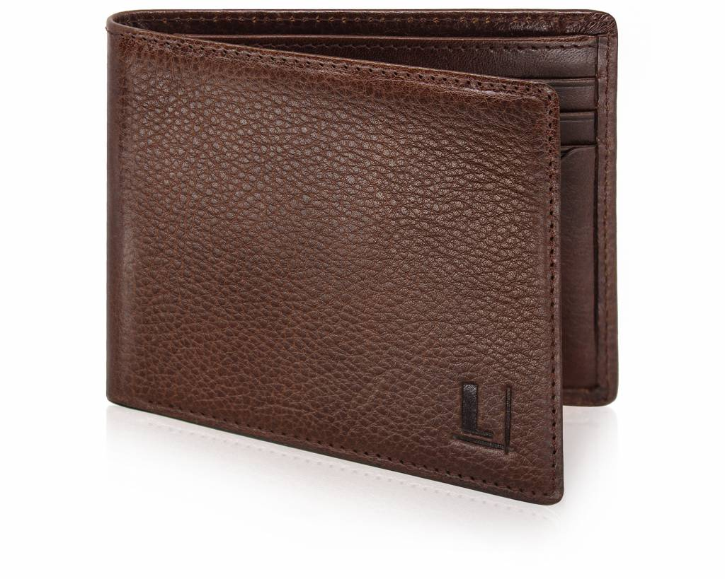 Bi-Fold Wallet LW-8 Dark Brown
