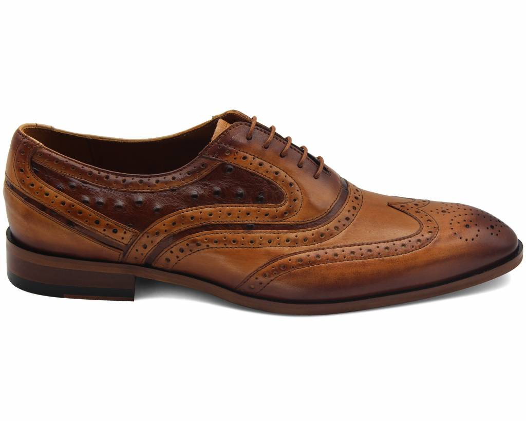 Dark Ostrich Mix Brogues