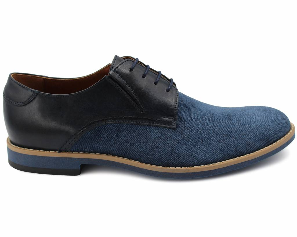 Jeans Effect Derby Shoes
