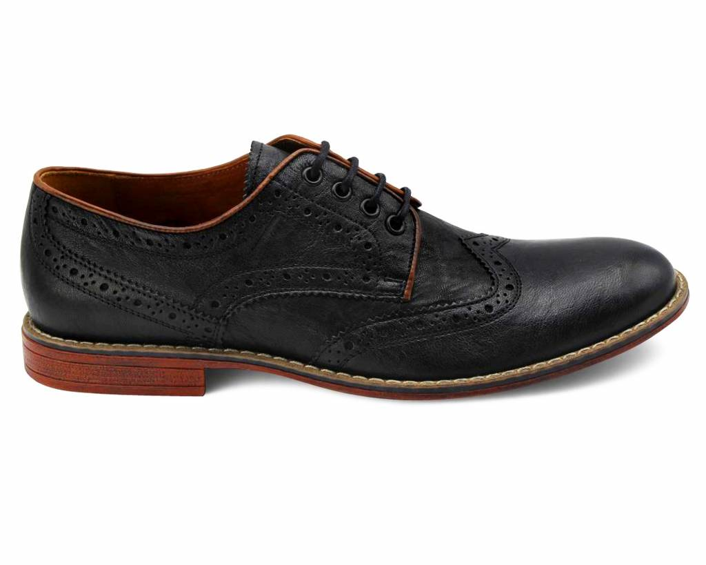 Crinkled Semi Brogues